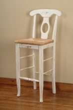 Milford Bar Stool with Woven Seat