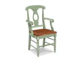 Milford Armchair with Wood Seat