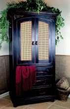 Cane Door Armoire