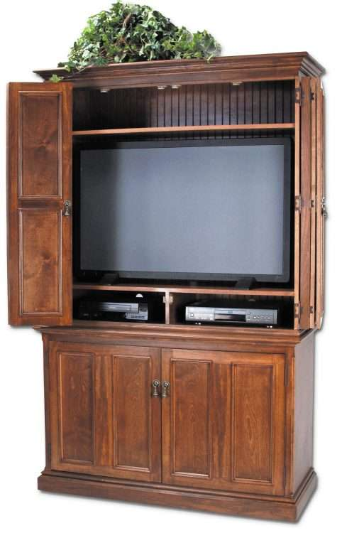 Hillsboro Flat Screen Tv Hutch With, Entertainment Armoire For Flat Screen Tv