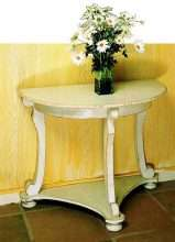 Scroll Leg Half Round Table