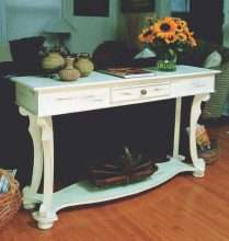 Scroll Leg Sofa Table